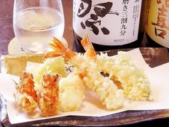 天正 日本酒と天ぷら