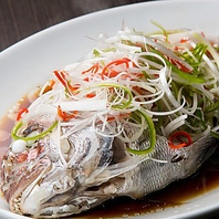 【伝統中華料理清蒸魚】要予約