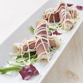 料理メニュー写真自然薯の生ハム巻き