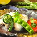 料理メニュー写真サーモンの木の芽味噌焼き