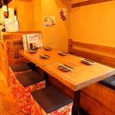 店内裏手の個室ちっくなテーブル席もご用意!
