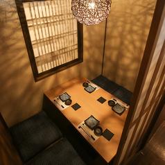 カップル向け個室もございます♪完全個室ですので、2人だけの空間でゆっくりとお食事をお楽しみ下さい。