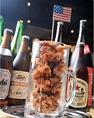 鶏の唐揚げアメリカ690円(税抜)アメリカスタイルの鶏のから揚げ♪ジョッキで提供するオリジナル!
