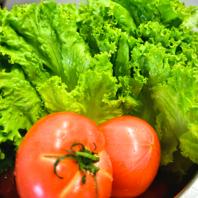 野菜にもこだわる!