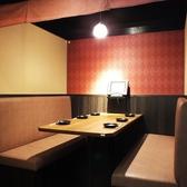 暖簾仕切りのBOX席!4~6名席までご利用頂けます