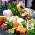 料理メニュー写真厳選鮮魚のお造里盛合わせ(5種:2~3人前)