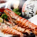 料理メニュー写真有頭えびの塩焼き(2本)