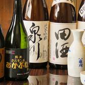 焼肉と合う銘柄日本酒や焼酎も取り揃えております。お気に入りの組み合わせを見つけてみて★