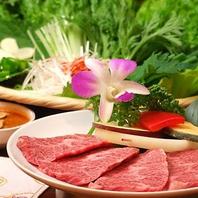和牛焼肉3500円コース(焼き物4品+一品料理6品)