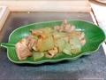 料理メニュー写真ハヤトウリとチキンの煮浸し