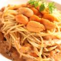 料理メニュー写真生ウニの濃厚クリームソースパスタ