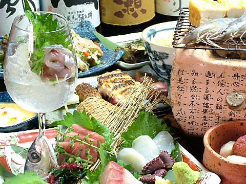 新鮮魚介の七輪焼き、串焼きなど…職人が作り上げる料理を一度ご賞味あれ!!