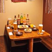 半個室のテーブル席♪