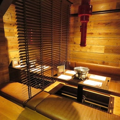 【小上がり掘り炬燵半個室】4名様×6部屋!カーテンを下せば半個室風に♪