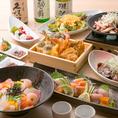 ■庵-Iori-■旬の天麩羅、特製海鮮ちらし寿司堪能コース【2時間飲み放題付き8品4480円】天菜がおすすめする贅沢メニューを取り揃えました!和の趣き溢れる個室で宴会を。こだわりのお料理と空間で存分に会話をお楽しみ頂けます。至福の3時間をぜひ。絶品づくしを心ゆくまでお楽しみください♪