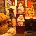 店内には和の趣溢れる装飾がいっぱいです。