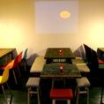 落ち着いたカフェ空間♪【カフェバルフロア】20名様~貸切OK♪最大35名!!【プロジェクターあり】店舗完全貸切は70名様までOK♪