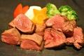 料理メニュー写真一口おつまみステーキ