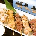 料理メニュー写真国産鶏の炭火焼きおまかせ五本盛り(塩・タレからお選びください)