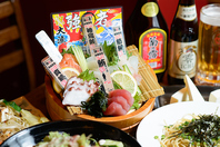 沖縄近海や内地の海で獲れた新鮮な海鮮をそのままご提供