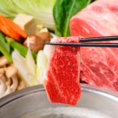 肉の美味しさを堪能するならやっぱりしゃぶしゃぶ!あっさりなポン酢or濃厚クリーミーなごまだれで是非どうぞ。