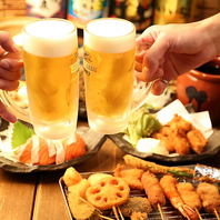 自家製秘伝のタレがくせになる…★ビールで乾杯っっ