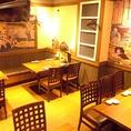 大人数用の広々としたテーブル席も完備!女子会,ママ会,ちょっとした飲み会などに便利です♪