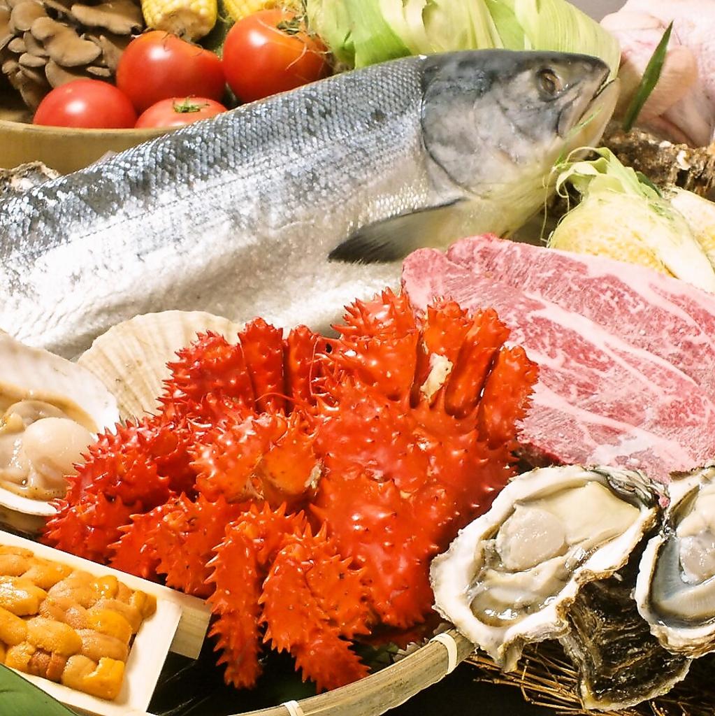 食材の集まる町「旭川」!!新鮮な魚介類・野菜・お肉などが一度にご堪能いただけます♪