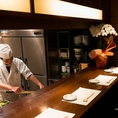 職人が調理する新鮮食材のお料理を存分に。特別な日にも◎