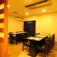 会食や顔合わせに最適な個室は最小8名様~16名様でご利用頂けます。