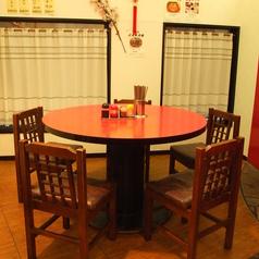THE中華!円卓テーブル席は皆様でお食事をお楽しみいただけます♪ご家族でのお食事や会社の飲み会など各種宴会利用にもオススメ◎ご宴会にぴったりのコースメニューもご用意しています♪お気軽にご利用ください!