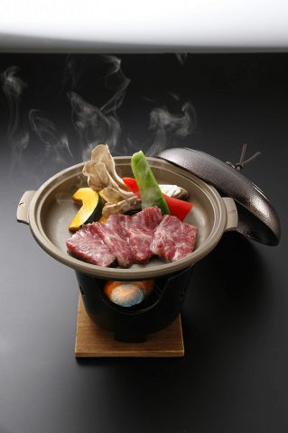 大とろ握りと焼たらばとA5飛騨牛陶板ステーキの入ったコース★お料理のみ5500円
