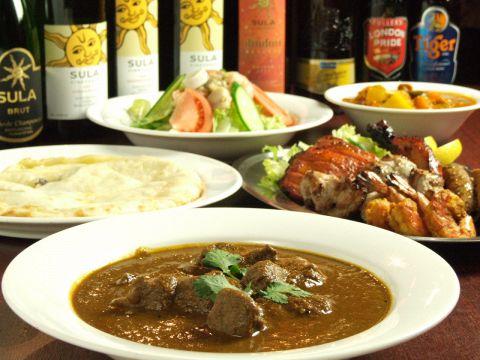 本格インドカレーとタンドール料理を気軽に楽しめる店インド食堂アンジュナです。