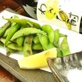 料理メニュー写真胡麻油香る焼き枝豆