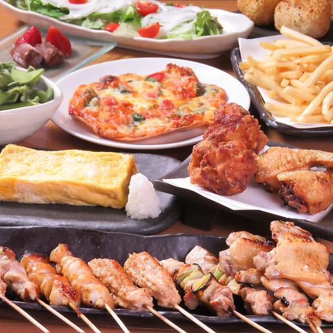 こだわりの備長炭で厳選された国産鶏を串焼きに♪リーズナブルな価格でのご提供です!