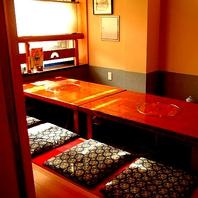 全席完全個室は接待にもおすすめです。