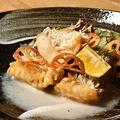 料理メニュー写真甘鯛のウロコ揚げフリット 酒盗ソース