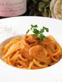 料理メニュー写真ベーコンとマスカルポーネのトマトクリームパスタ