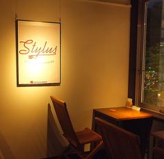 夜景が望めるテーブル席