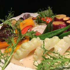 高知県産 地元野菜の温サラダ~じゃがいもソースで~