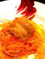 新鮮な雲丹のトマトスパゲティー