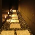個室に繋がる石の空間