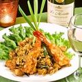 料理メニュー写真タイ式海鮮焼きビーフン(パッタイ)