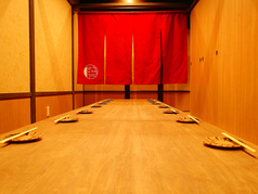 宴会にピッタリの掘りごたつ半個室。人数に応じて個室をご準備いたします!