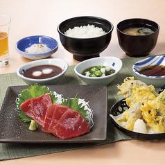 本まぐろと旬野菜 鱧天ぷら御膳