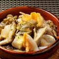 料理メニュー写真つぶ貝ときのこのガーリックオイル焼き