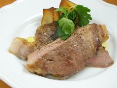 北海道産豚肉のロースト 季節の野菜添え