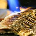 料理メニュー写真極上〆鯖炙り