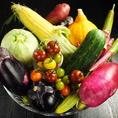 """【食へのこだわり1】野菜は大阪""""やなもり農園""""や""""射手矢農園""""を始め、全国各地の新鮮で安心な食材を使用しております。"""
