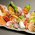 料理メニュー写真海鮮料理 刺身  荒波にもまれた玄界灘の鮮魚や近海の鮮魚